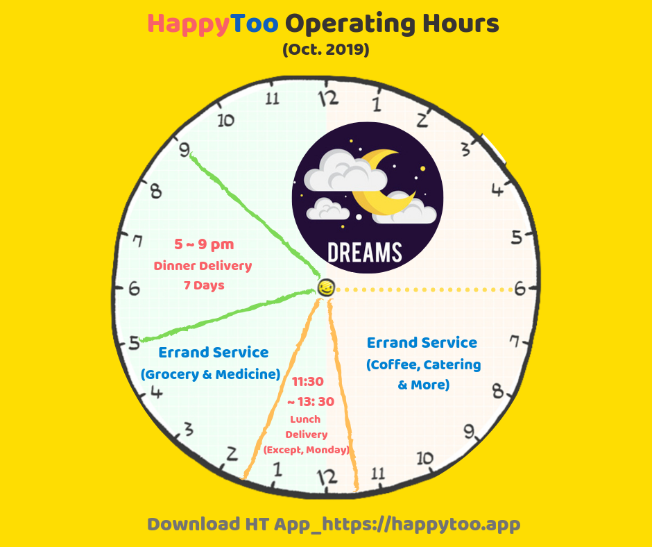 HappyToo Operating Hours (Oct. 2019)