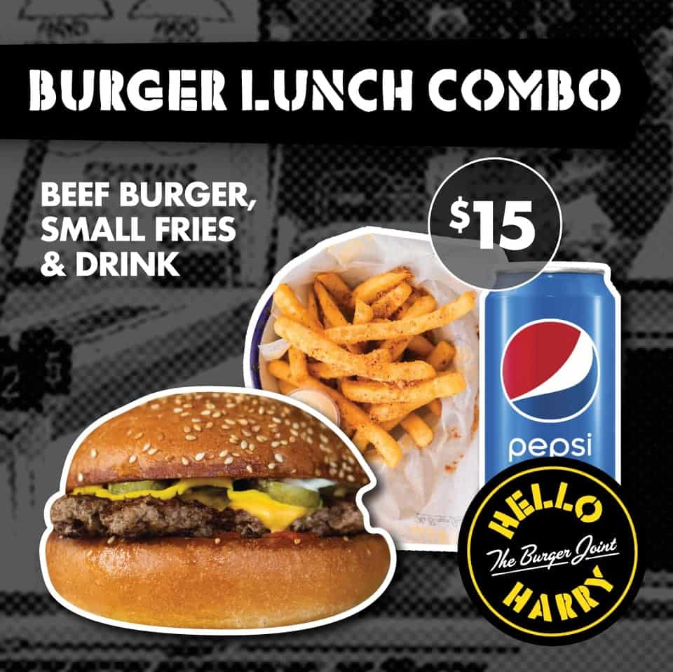 [HappyToo Promotion] Hello Harry's Toowoomba Mon/Tue Special $15 meal