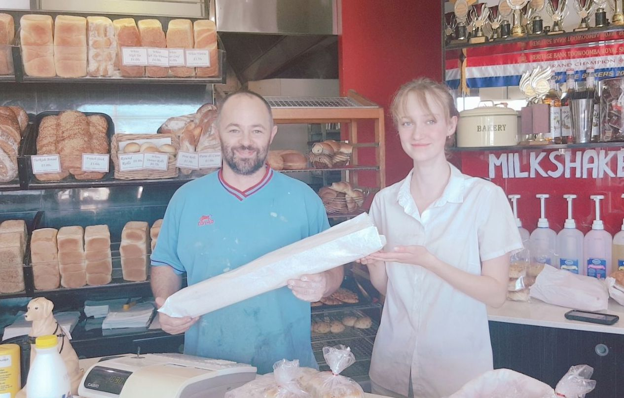 Makes your own breakfast using  a french stick from Anthony's Bakery